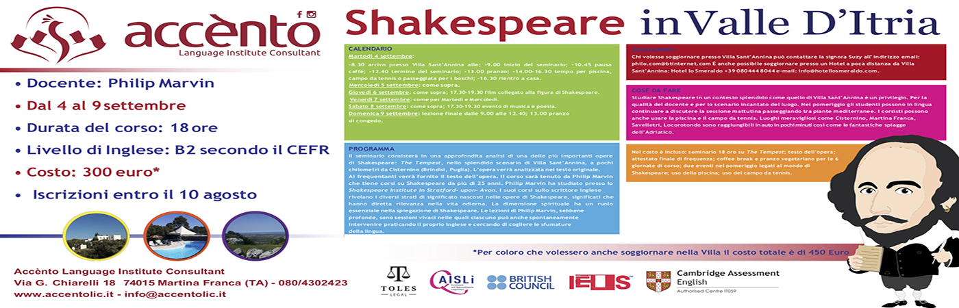 Shakespeare in Valle d'Itria